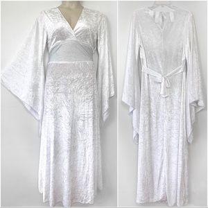 Disguise Velvet Dress Halloween Costume White